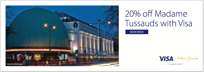 20% off Madame Tussauds with Visa