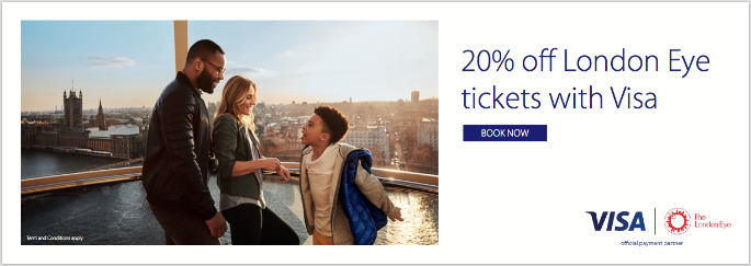 20% off London Eye tickets with Visa